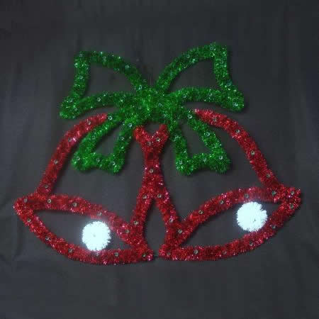 Double Bells with Bow Red/Green