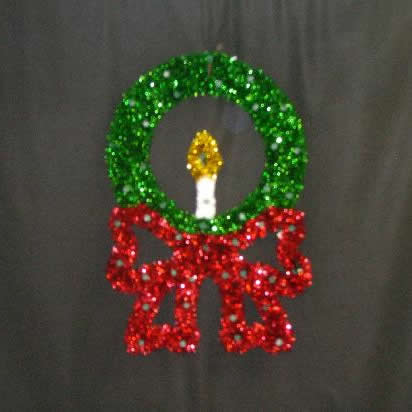 Small Wreath with Candle 3-Foot